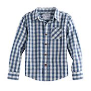 Boys 4-7x SONOMA Goods for Life™ Gingham Plaid Shirt