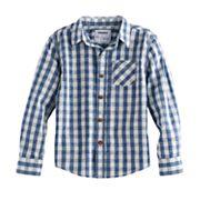 Boys 4-7x SONOMA Goods for Life™ Gingham Plaid Shirt