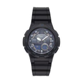 Casio Men's Telememo World Time Analog-Digital Watch - AEQ100W-1BV
