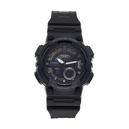 Casio Men's Telememo World Time Analog-Digital Watch - AEQ110W-1BV
