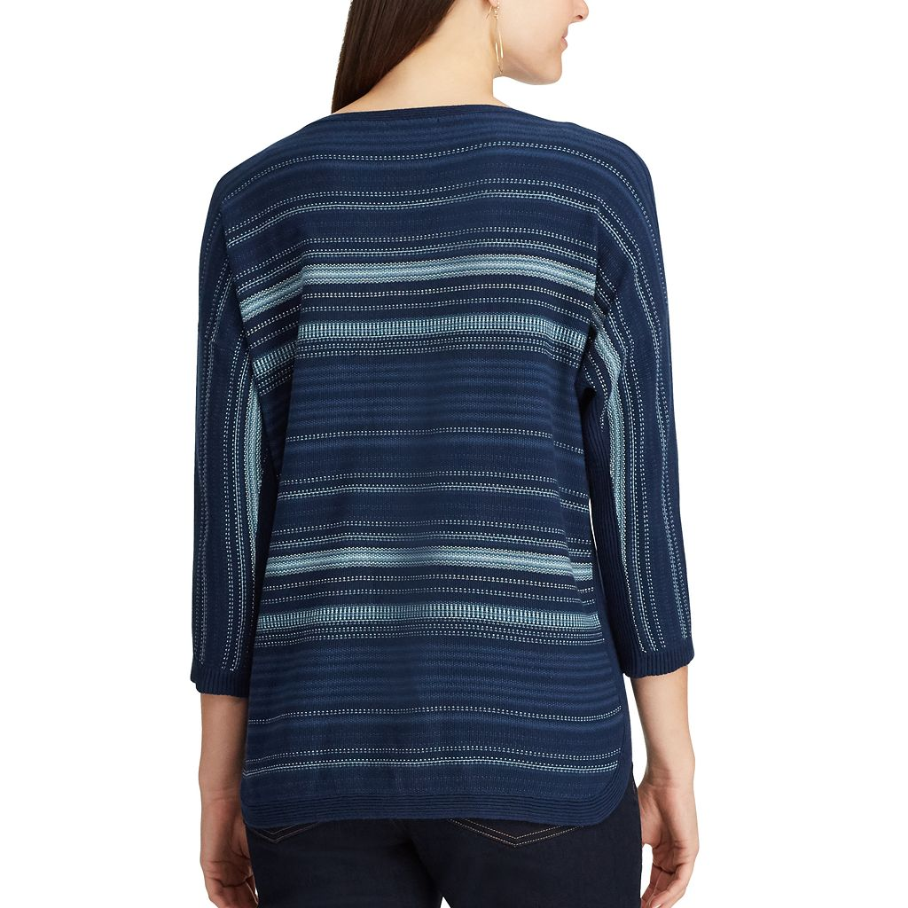 Women's Chaps Striped Sweater