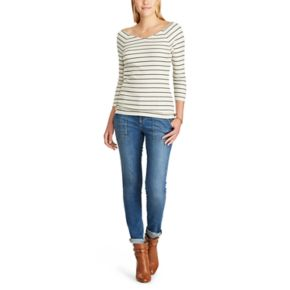 Women's Chaps Striped Ribbed Top