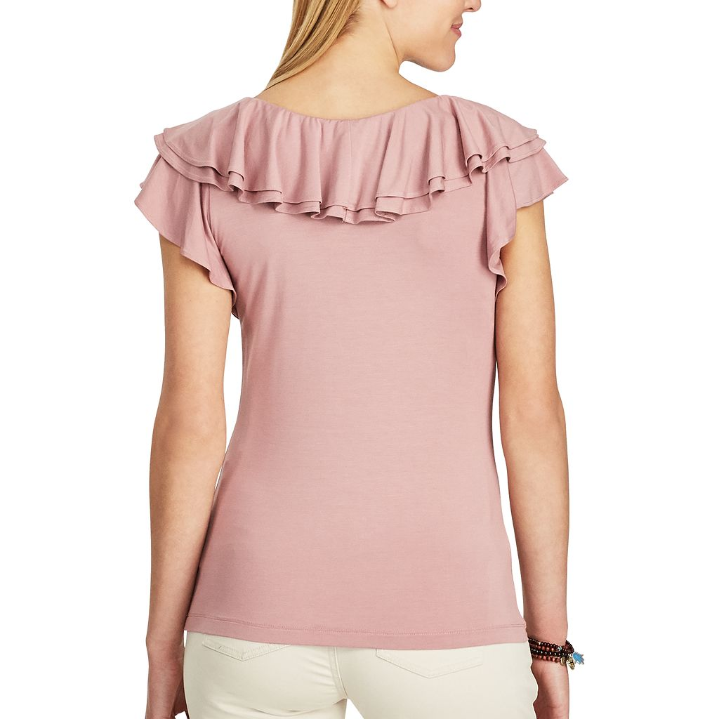 Women's Chaps Ruffled Stretch Top