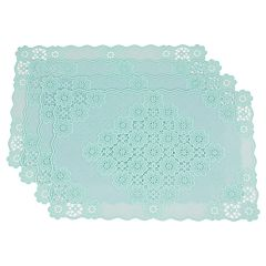 Celebrate Spring Together Lace Vinyl Placemat Set 4 pk