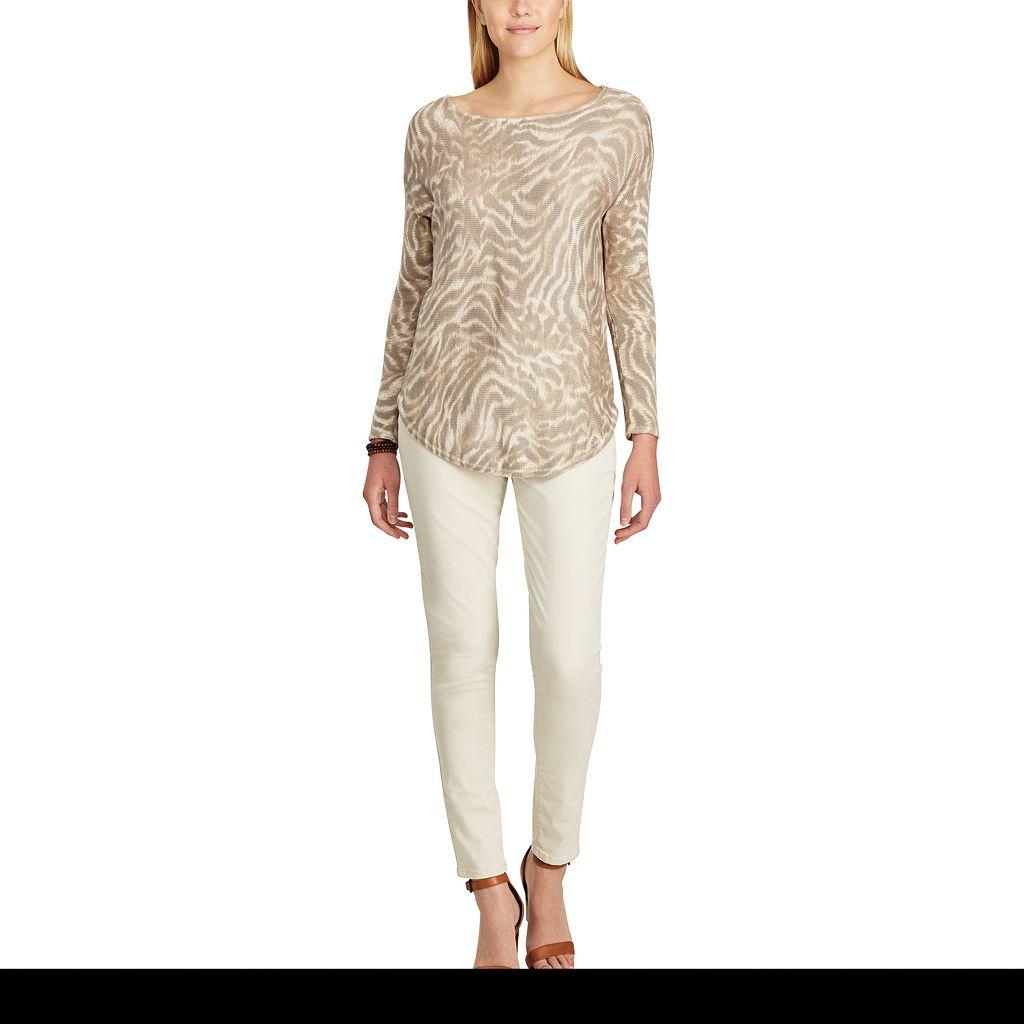 Women's Chaps Animal Print Sweater