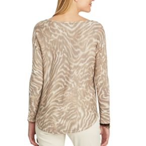 Women's Chaps Animal Print Sweater