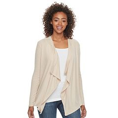 Juniors' SO® Draped Open Front Cardigan