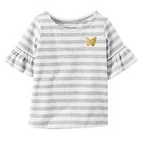 Girls 4-8 Carter's Striped Bell Sleeve Tee