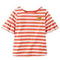 Girls 4-8 Carter's Striped Bell Sleeve Tee