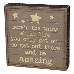 'Be Amazing' Box Sign Art