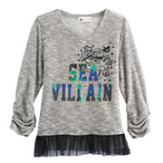 Disney D-Signed Descendants Girls 7-16 'Sea Villain' Tulle Hem Hatchi Top