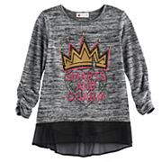 Disney D-Signed Descendants 2 Girls 7-16 3/4-Sleeve Embellished Hatchi Top