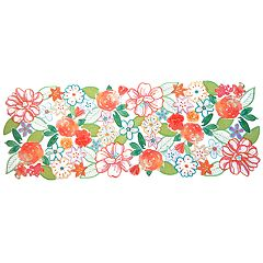 Celebrate Spring Together Cut-Out Flower Table Runner - 36'