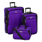 Leisure Voyager 3 pc Wheeled Luggage Set