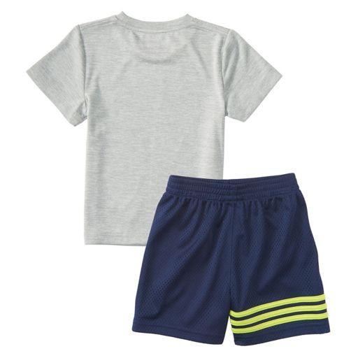 Baby Boy adidas Defender Athletic Ball Graphic Tee & Shorts Set
