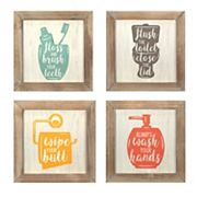 Stratton Home Decor Bathroom Wall Decor 4 pc Set