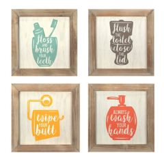 Stratton Home Decor Bathroom Wall Decor  Pc Set