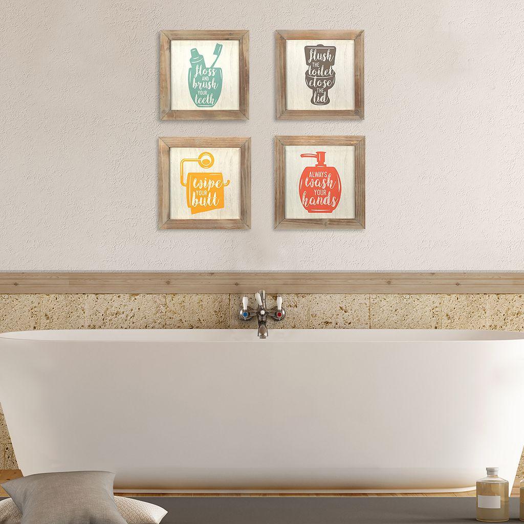 Stratton Home Decor Bathroom Wall Decor 4-piece Set