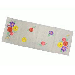 Celebrate Spring Together Floral Applique Table Runner - 36'