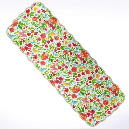 """Celebrate Spring Together Quilted Bright Floral Table Runner - 36"""""""