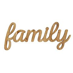 Stratton Home Decor 'Family' Farmhouse Wall Decor