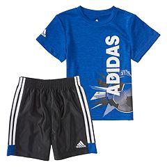 Baby Boy adidas Logo Graphic Tee & Shorts Set