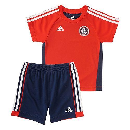 Baby Boy adidas Hat Trick Soccer Graphic Tee & Shorts Set