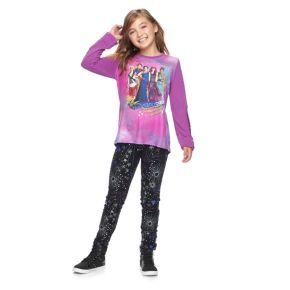 Disney D-Signed Descendants 2 Girls 7-16 Sequin Sleeve Graphic High-Low Top