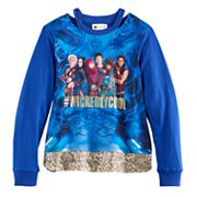 Disney D-Signed Descendants 2 Girls 7-16 '#WickedlyCool' Sequin Hem Top