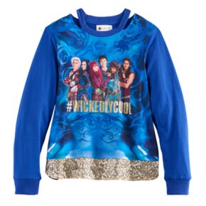 "Disney D-Signed Descendants 2 Girls 7-16 ""#WickedlyCool"" Sequin Hem Top"
