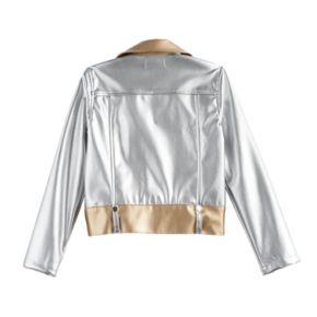 Disney D-Signed Descendants 2 Girls 7-16 Metallic Faux Leather Moto Jacket