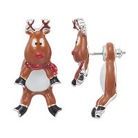 Reindeer Front-Back Earrings