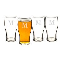 Cathy's Concepts 4-pc. Monogram Craft Beer Pilsner Glass Set