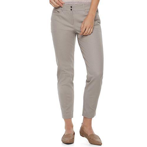 Women's Apt. 9® Bistretch Midrise Ankle Pants