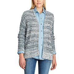 Women's Chaps Marled Open-Front Cardigan