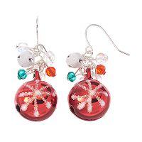 Beaded Jingle Bell Drop Earrings