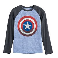 Boys 8-20 Marvel Captain America Shield Tee