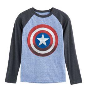 Boys 8-20 Marvel Captain America Shield Tee