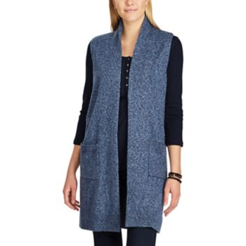 Women's Chaps Open-Front Sweater Vest