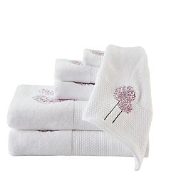 Madison Park Dandelion 6 pc Embroidered Bath Towel Set