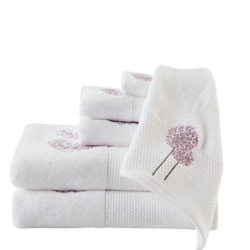 Madison Park Dandelion 6-piece Embroidered Bath Towel Set