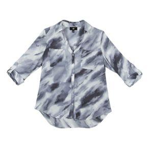 Juniors' IZ Byer Roll-Tab Shirt