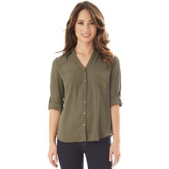 Juniors Green Button Down Shirts Tops Clothing Kohls