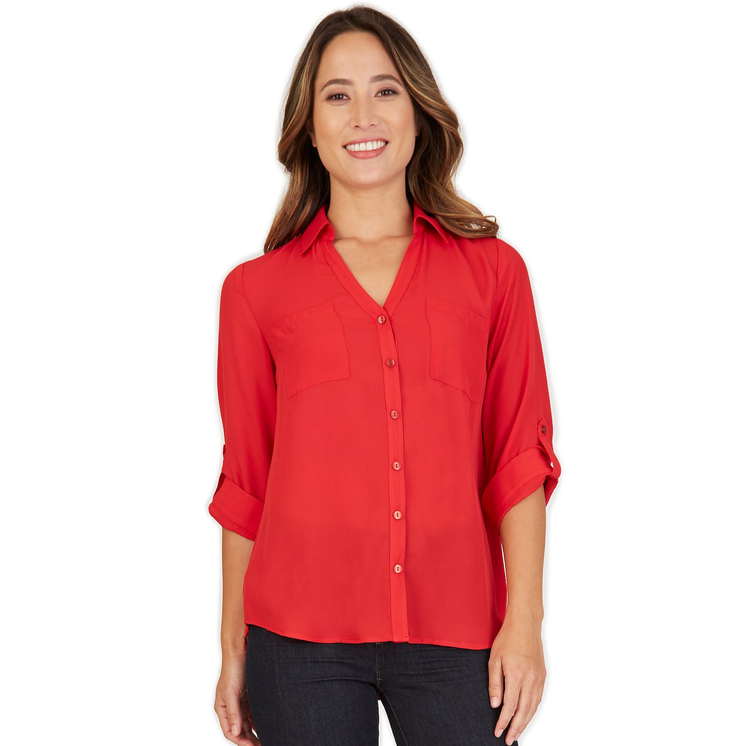 Red Blouses for Juniors