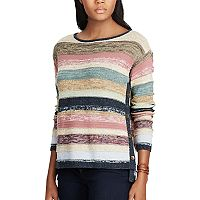 Women's Chaps Marled Striped Sweater