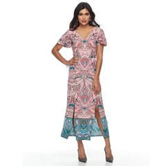 Petite Suite 7 Paisley Flutter Maxi Dress