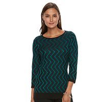 Women's Dana Buchman Zigzag Sweater