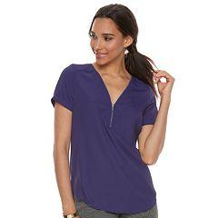 Women's Apt. 9® Zipper Accent Top