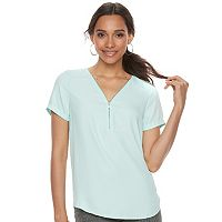 Women's Apt. 9® Zipper Accent Top