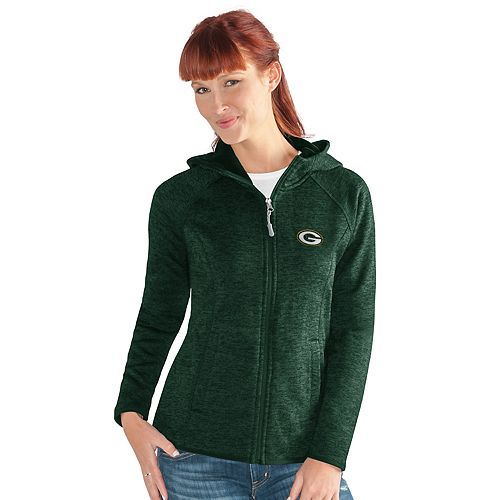 Women's Green Bay Packers Space-Dyed Hooded Jacket
